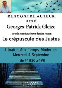 Rencontre avec Georges-Patrick Gleize @ Aux Temps Modernes